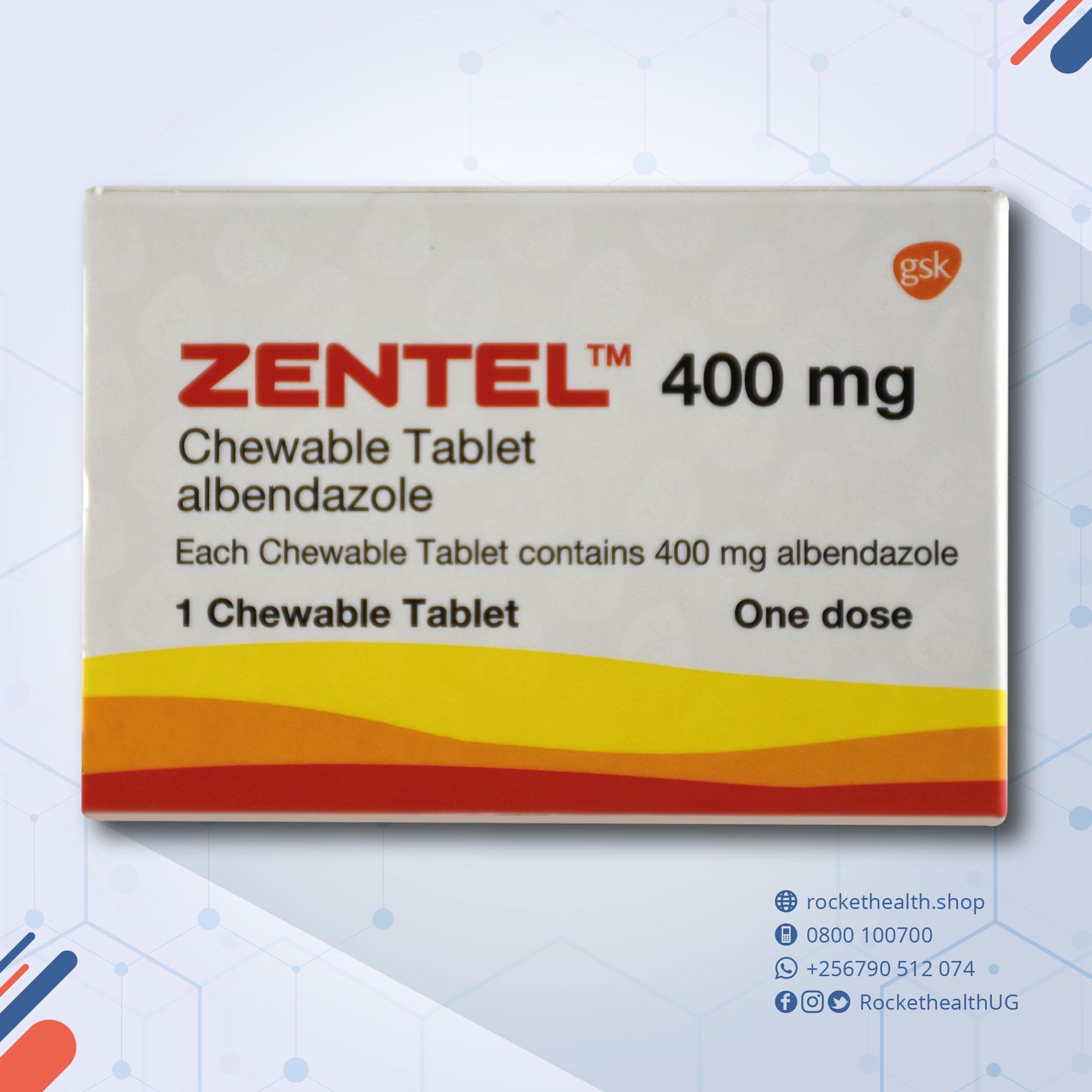 zentel tablet 400 mg
